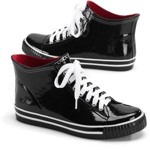 Shiny Sneaker Rubber Rain Boots, $25